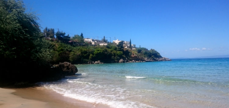 turistort Stoupa Peloponnesos Grekland