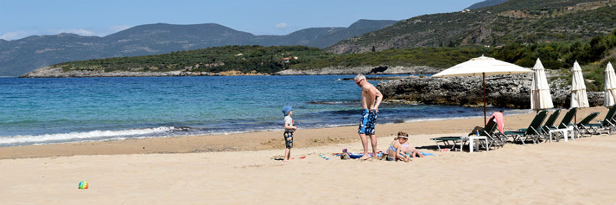 sandy beaches on the Peloponnese