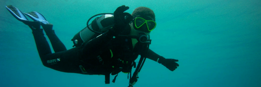 dykning för nybörjare stoupa peloponnesos