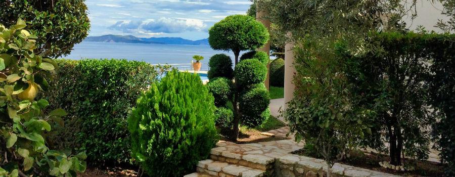 hus Grekland infinity pool Nafplio