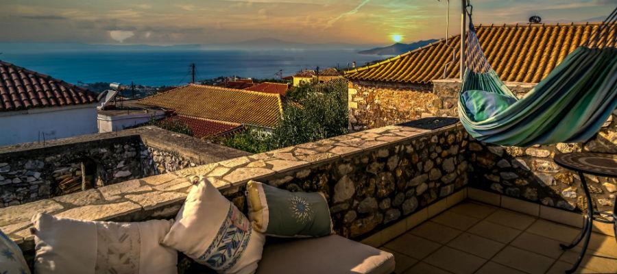 architect-designed house greek village modern design