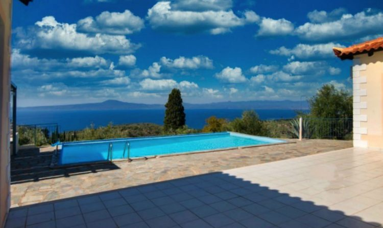 holiday-Peloponnese-pool-modern bungalow-beach-santova