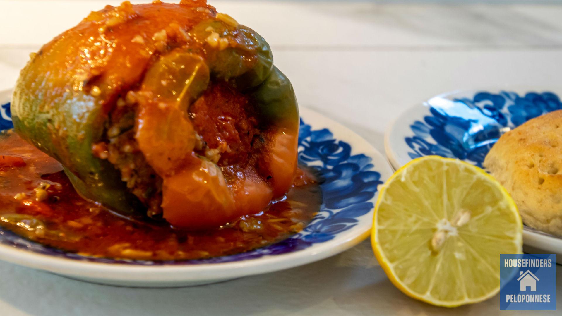 grekiska matratter gemista fyllda paprikor tomater